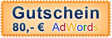 Gutschein Adwords - 80 €
